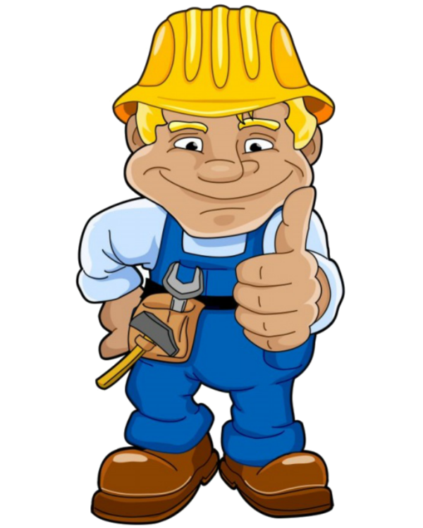 Personnages illustration individu personne. Contractor clipart builder