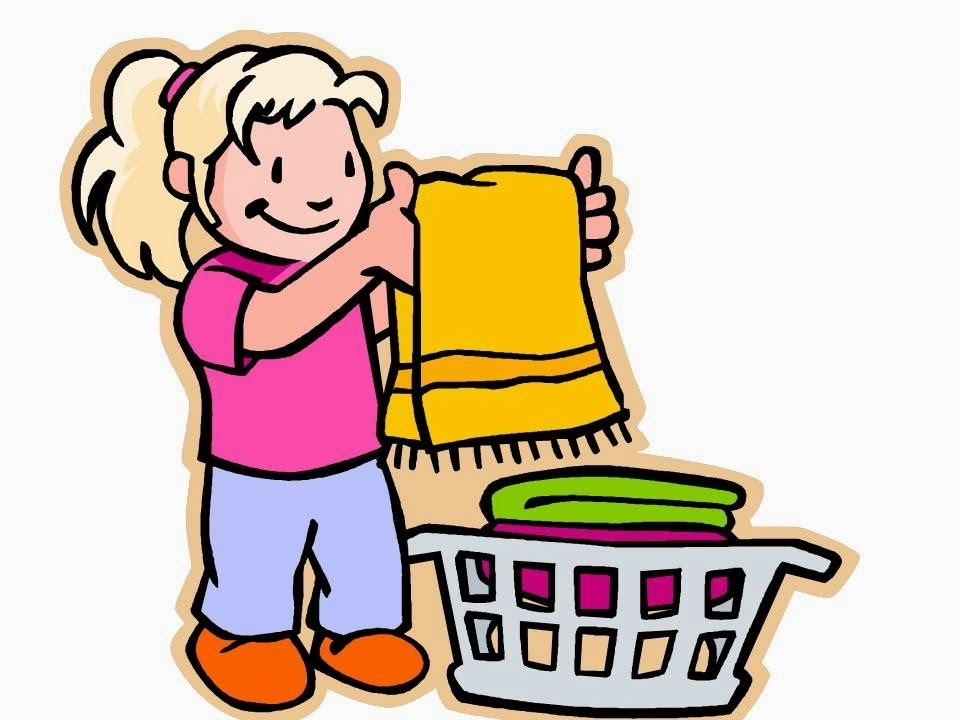 Kids clean room letters. Cleaning clipart