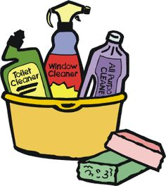Cleaning clipart. Clip art supplies