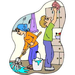 Clean clipart. Home cleaning