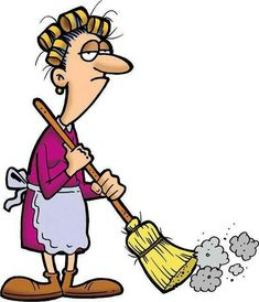 Cleaning clipart. Funny kid my clip