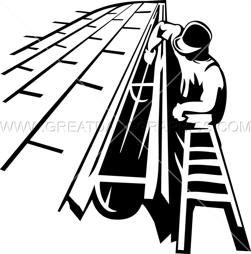 Gutter cleaner production ready. Contractor clipart church