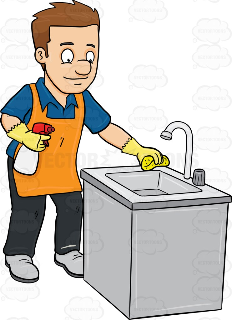 Housekeeping clipart clean counter. Up free download best