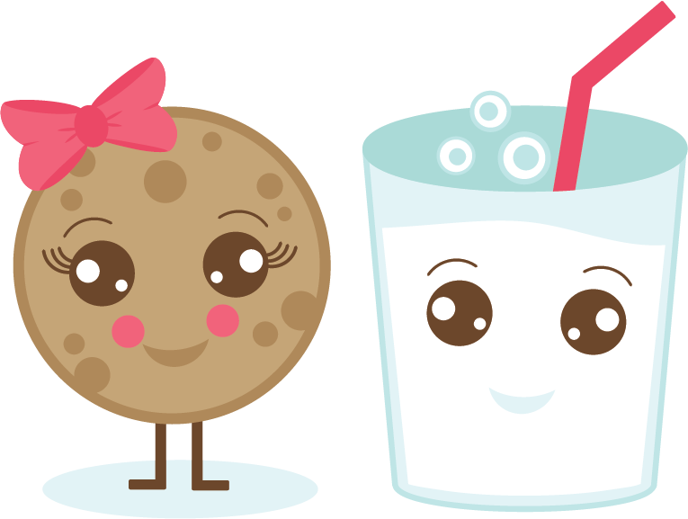 Milk cookie svg kawaii. Eat clipart food taste