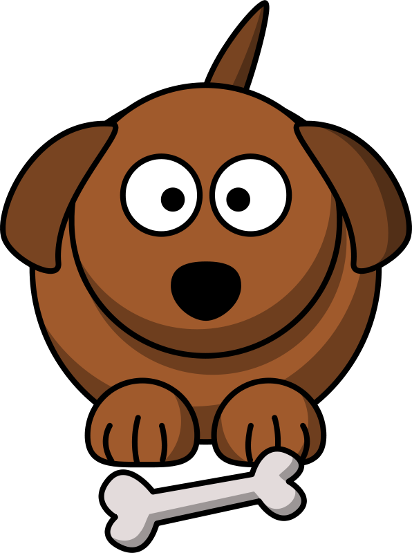 Clipart winter puppy. Cartoon dog by lemmling
