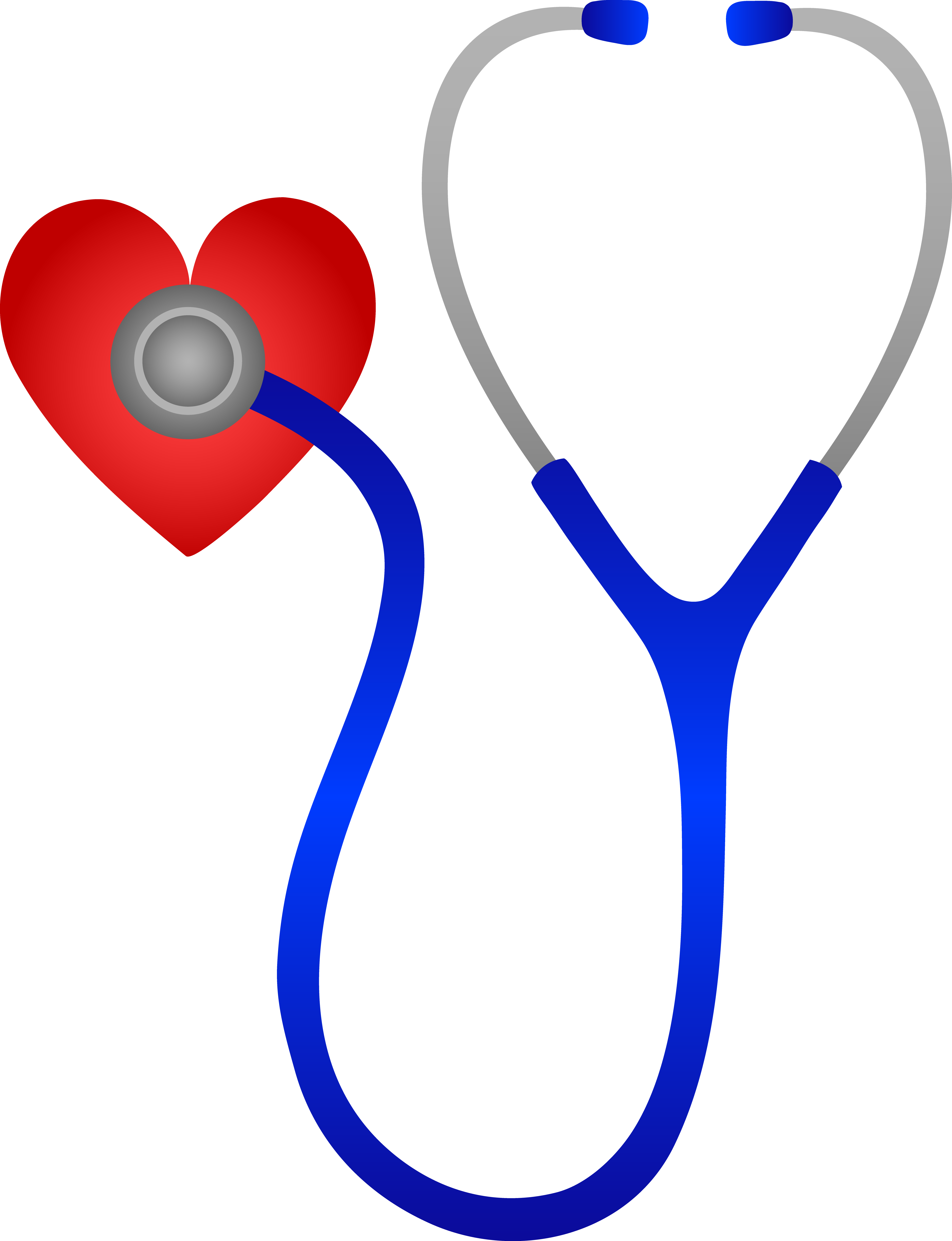 Blue stethoscope and red. Words clipart nurse
