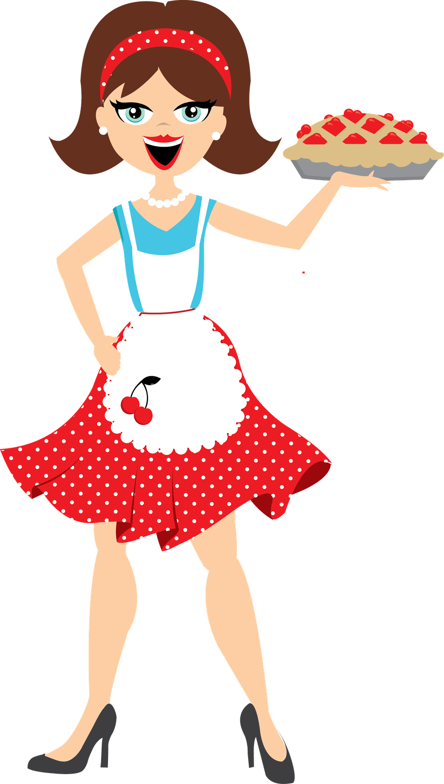 Minus say hello dekopaj. Clipart woman baker