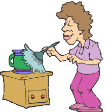 Dust clipart cartoon. Free clean furniture cliparts