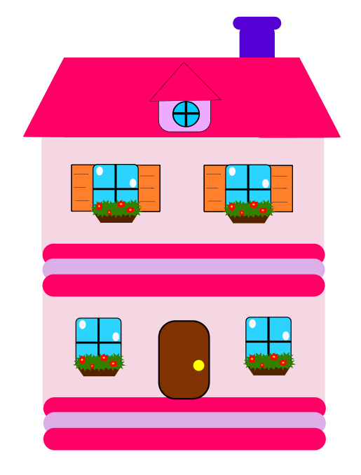 Outside clipart girl house. Pink houses pinterest images