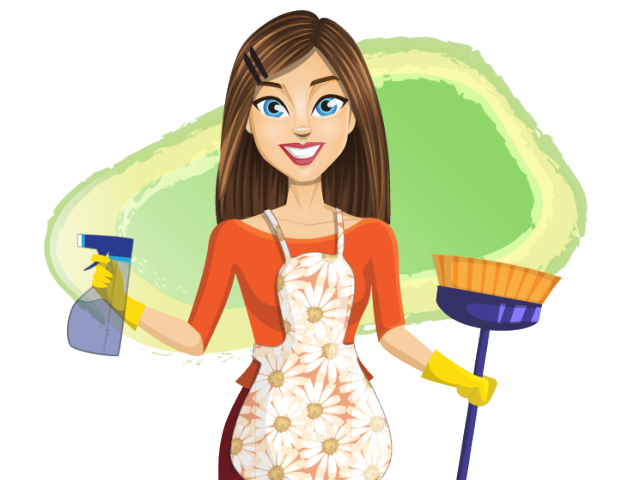 Lady clipart housekeeping. House construction cliparts free