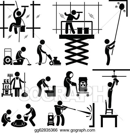 Cleaning clipart industrial. Vector art services job
