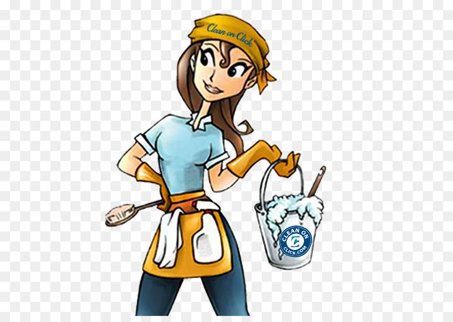 House cartoon cleaning janitor. Maid clipart maid service