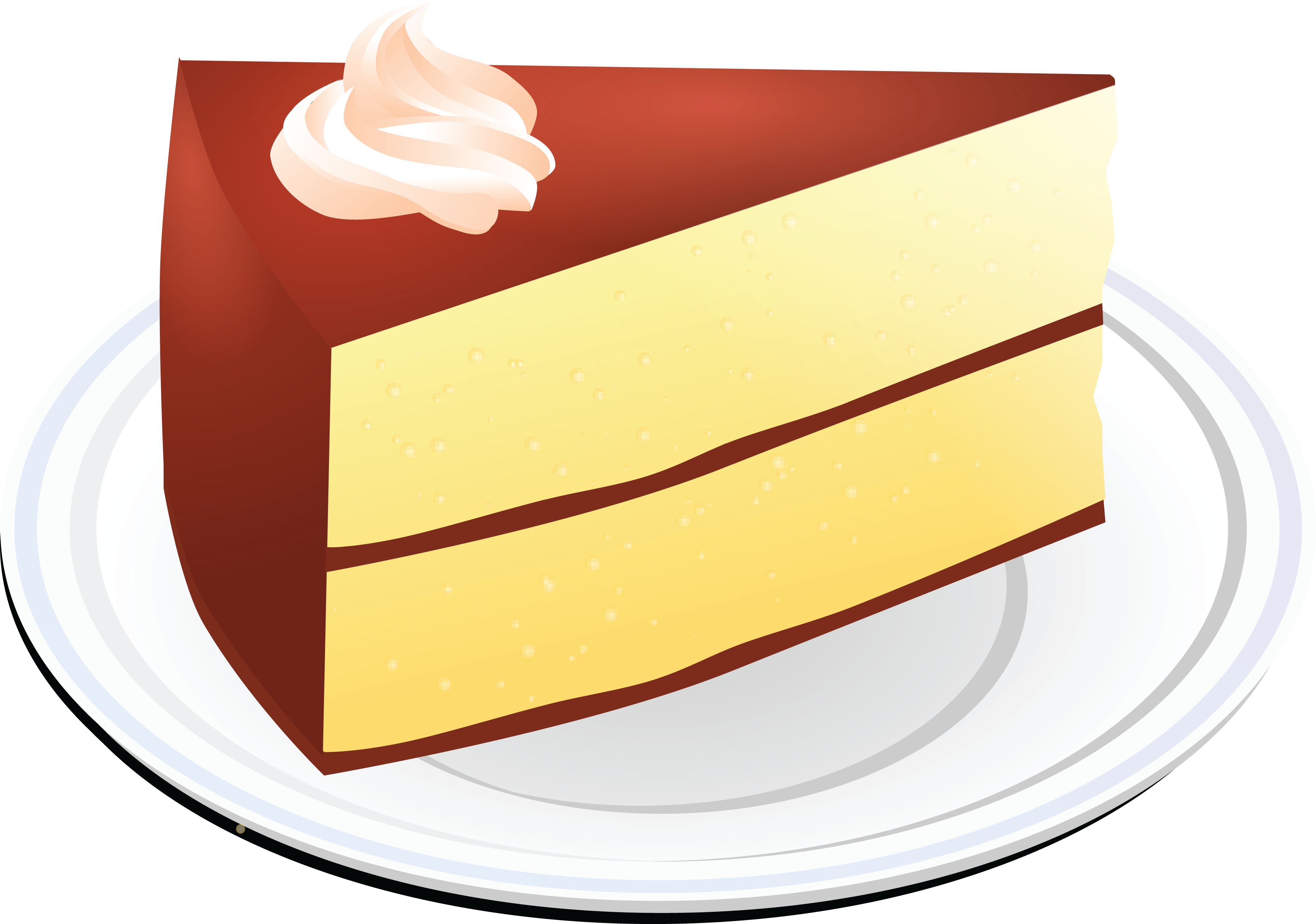 Clipart cake layer. Yellow graphics illustrations free