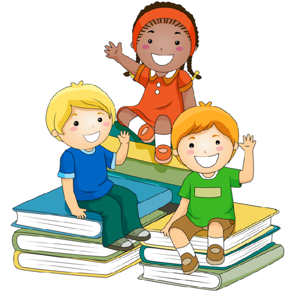 Kids in school cartoon. Shell clipart kid
