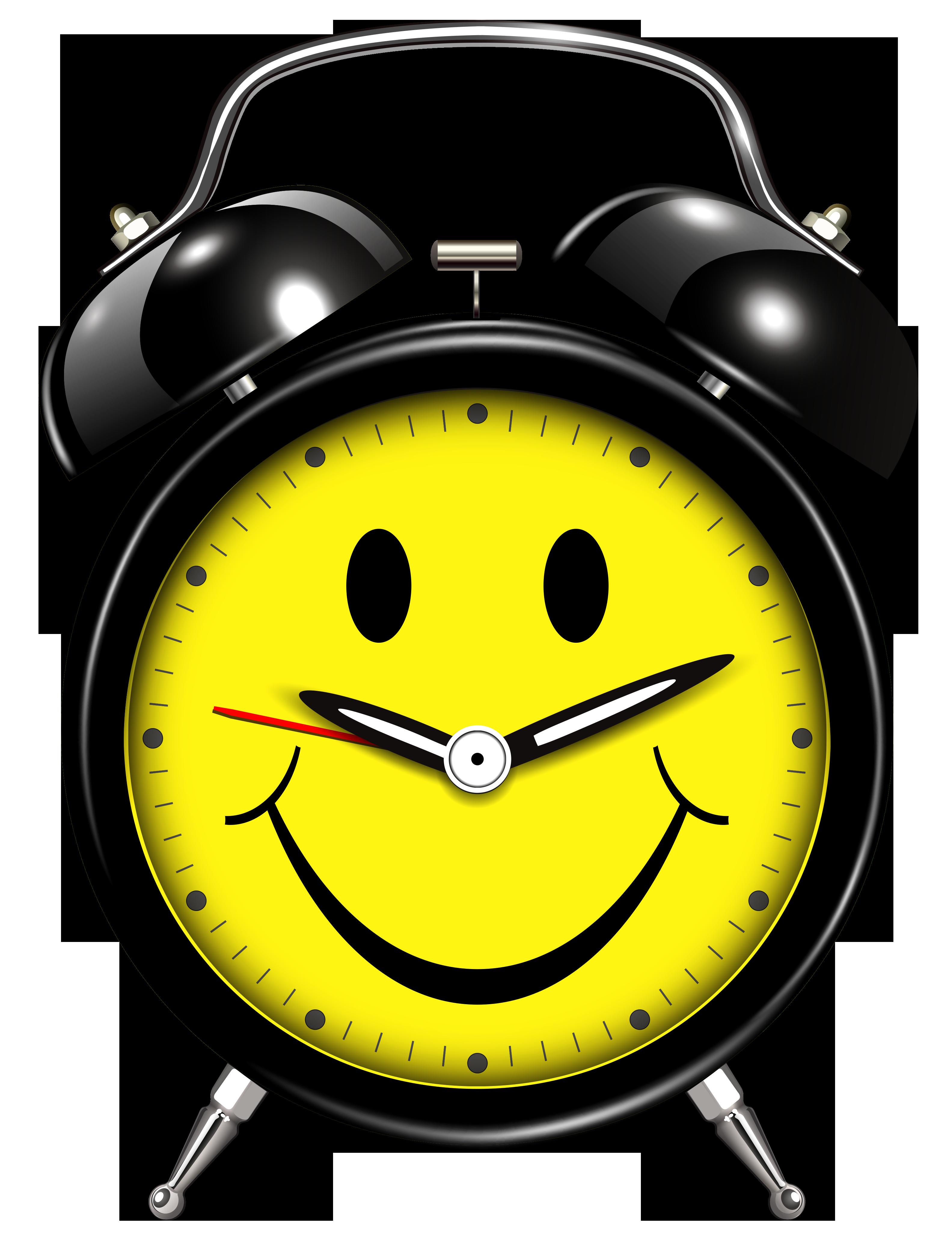 Smiling clock png clip. Clocks clipart alarm