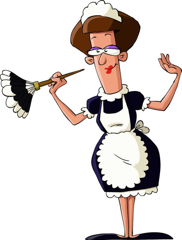 Maid clipart animated. B fe ae png