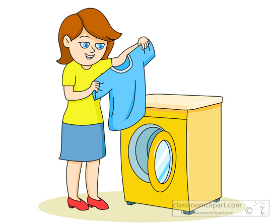 Washing clip art library. Cleaning clipart washed clothes