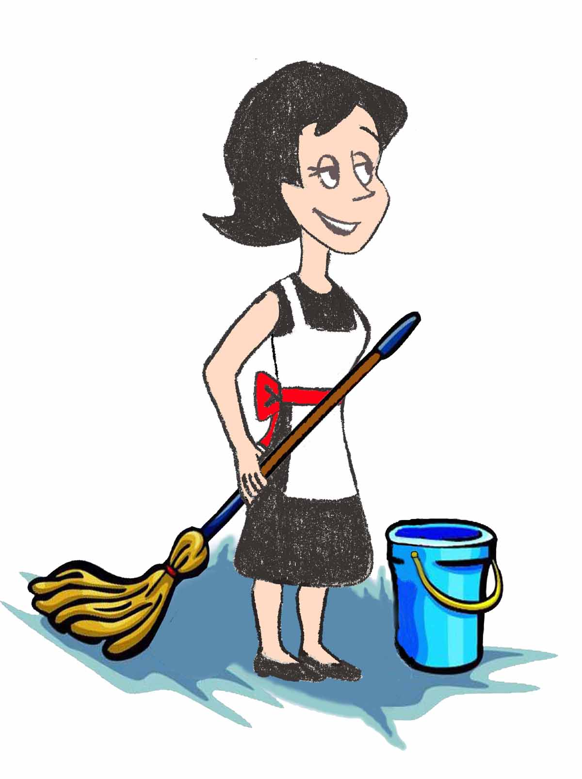 Free boat cleaning cliparts. Maid clipart house maid