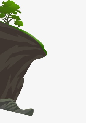 Cliff clipart. Mountain cartoon png image
