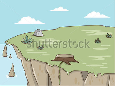 Cliff clipart.  collection of ocean
