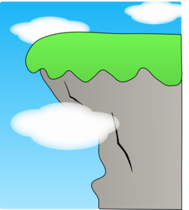 Cliff clipart. Clouds clip art at
