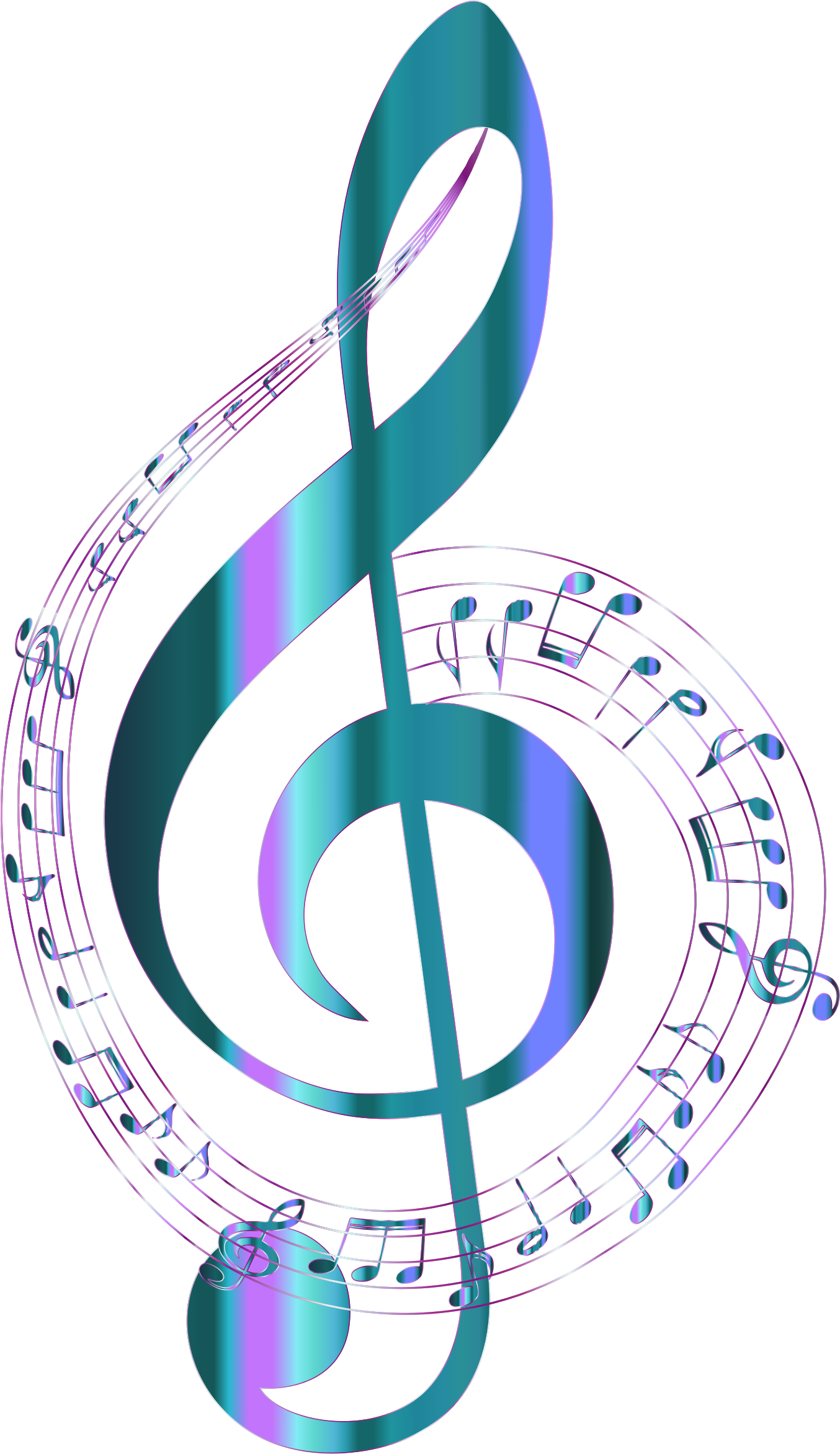Turquoise musical notes typography. Piano clipart music radio