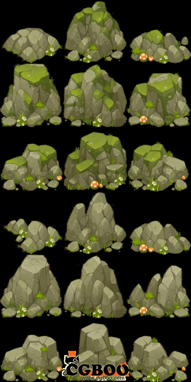 Environment clipart background image. Rock study concept art