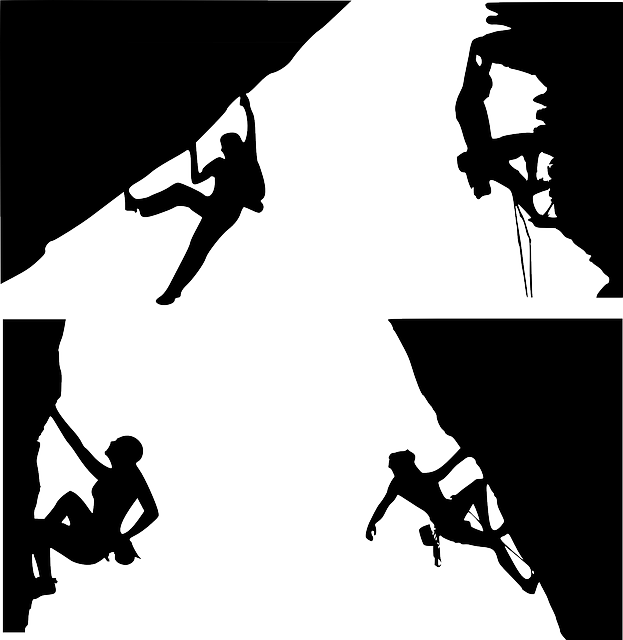 Clipart rock outline. Girl climbing sports girlrockclimbingoutline