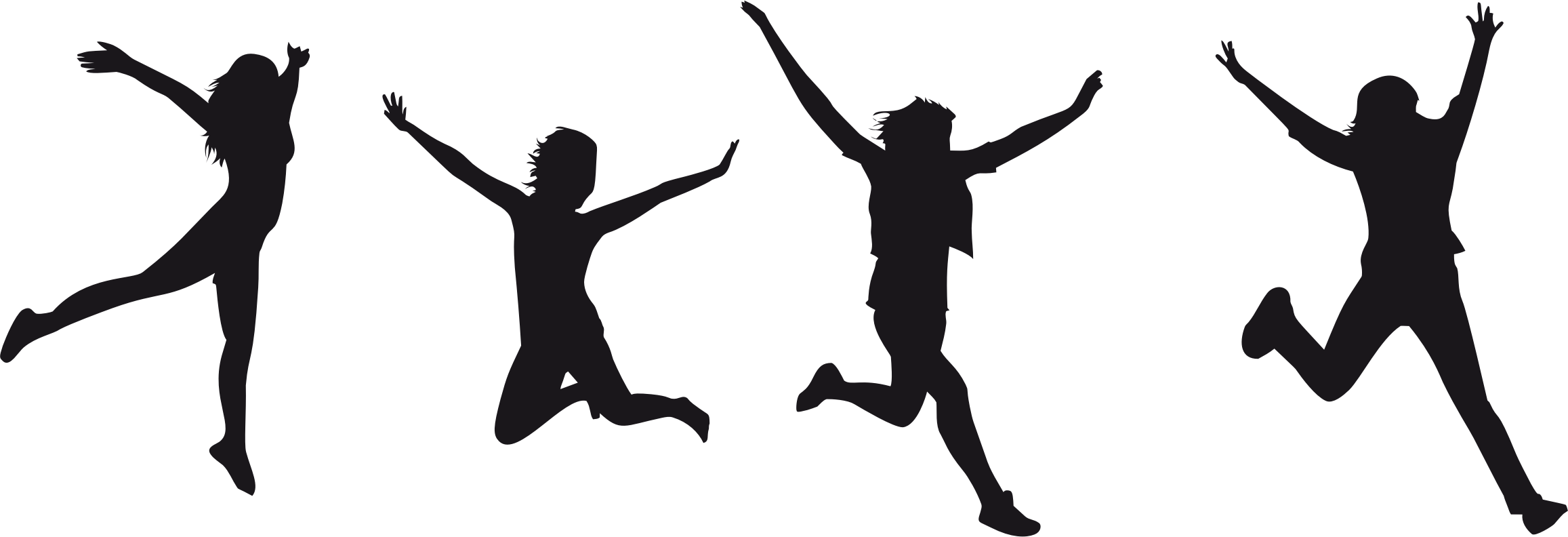 Clipart people diving. Silhouette of jumping at