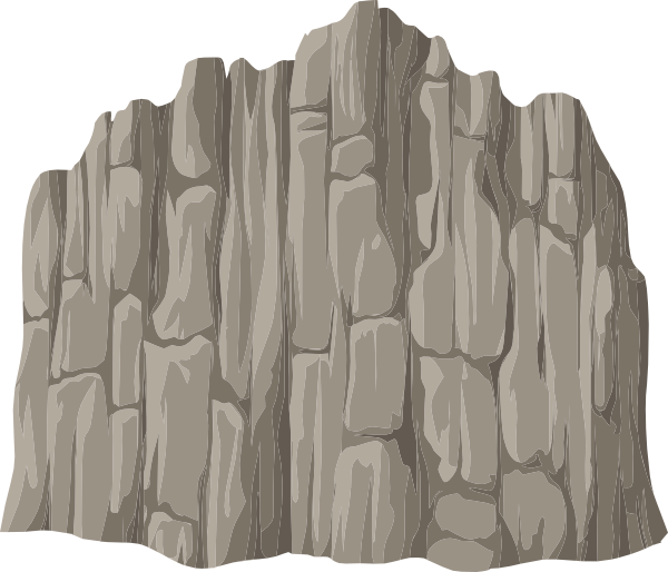 Alpine landscape cliff mountaineering. Rock clipart face