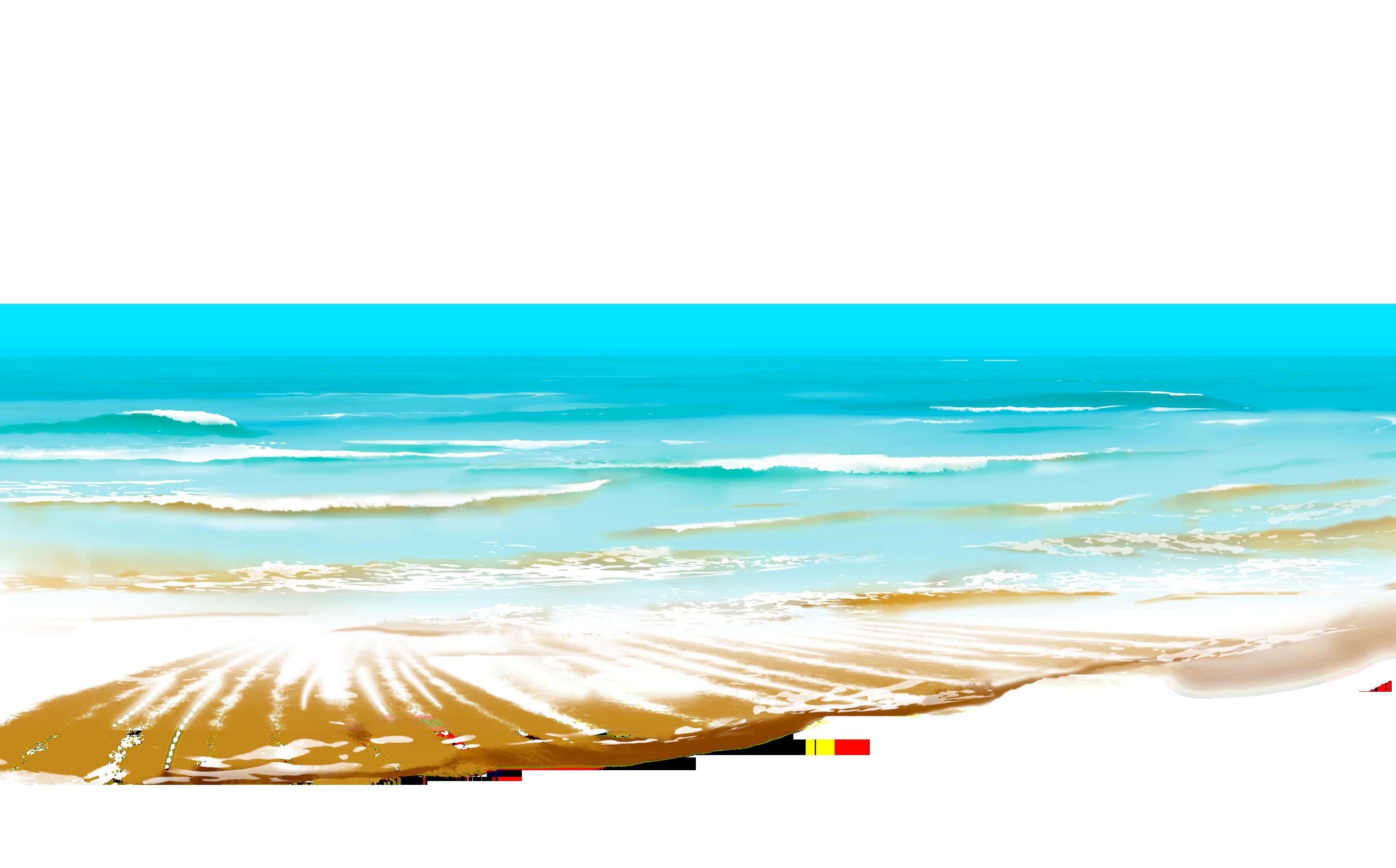 Ocean clipart blue ocean. Shore beach wave pencil