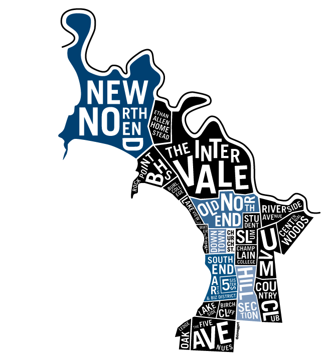 A guide to burlington. Market clipart noisy street