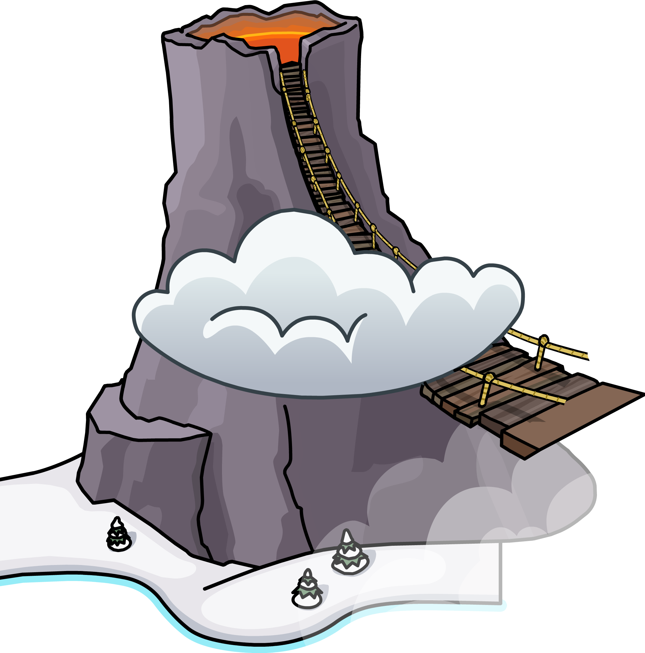 Club penguin wiki fandom. Clipart mountain volcano