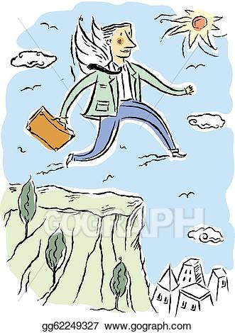 Cliff clipart drawing. Stock illustration business man