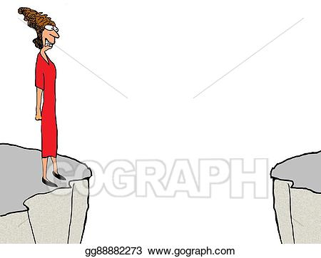 Woman at gg gograph. Cliff clipart drawing