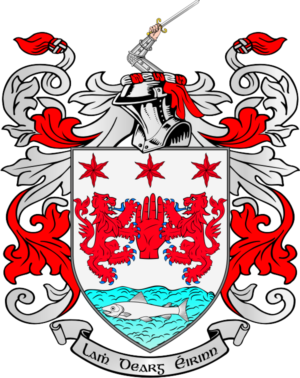Coat of arms tattoos. Clipart castle ireland
