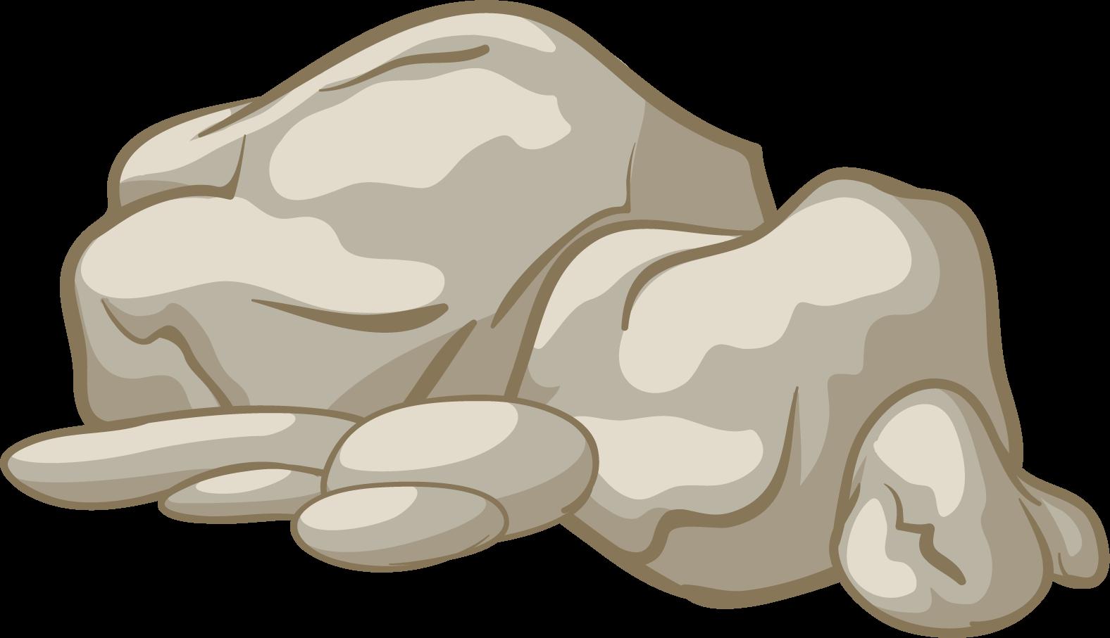 mining clipart broken rock