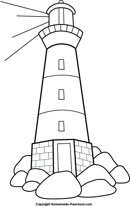 Clipart rock line art.  collection of lighthouse