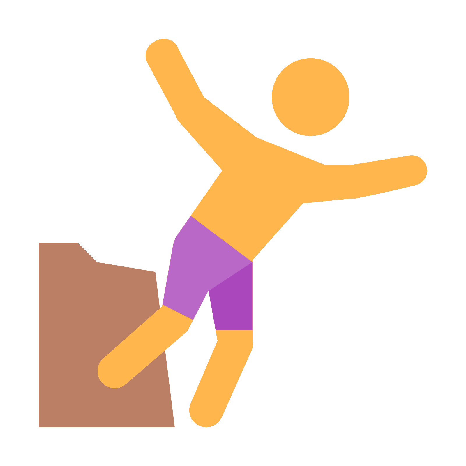 Cliff png icon. Clipart volleyball diving