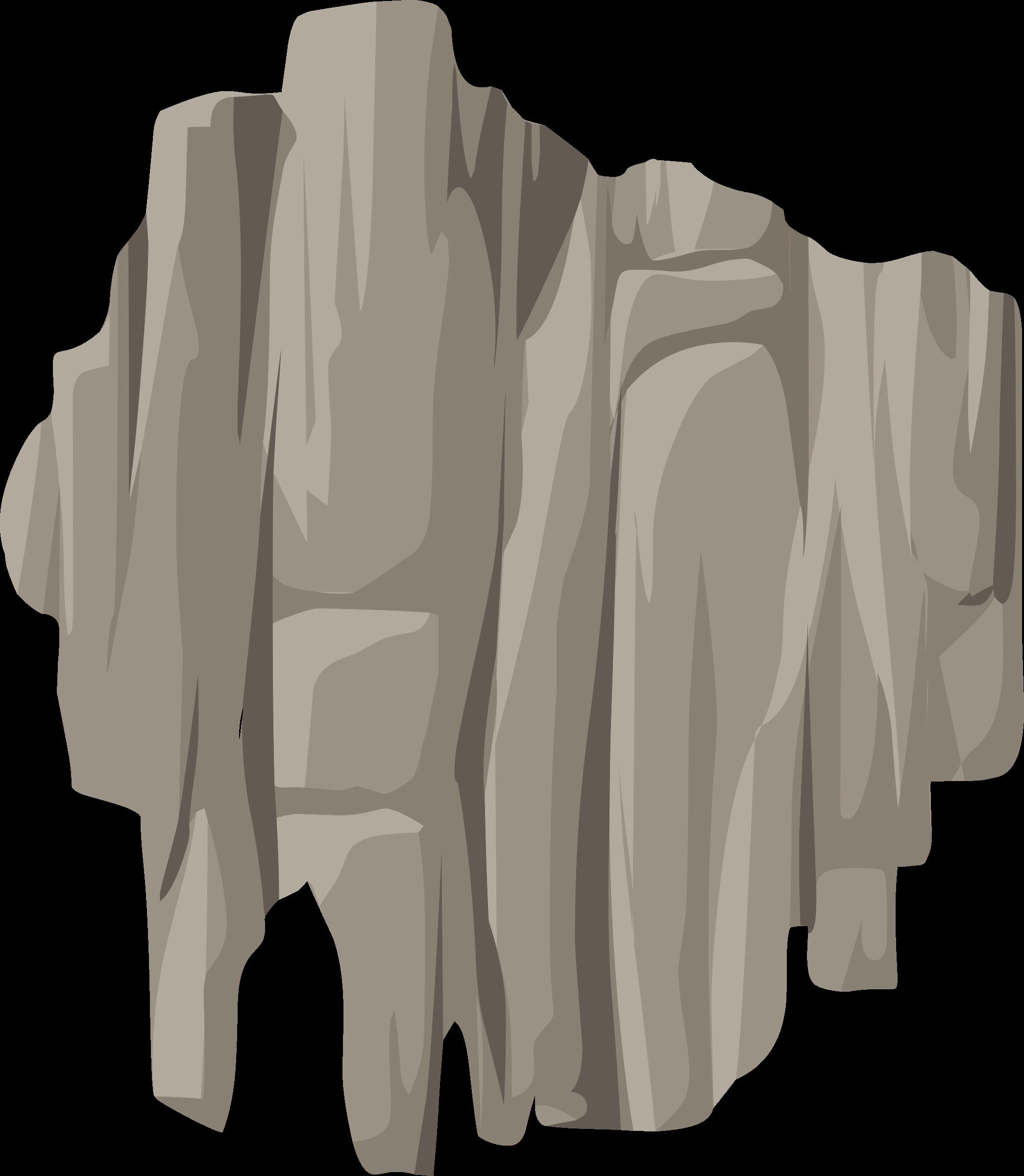 Alpine landscape face bandaid. Clipart rock rock cliff