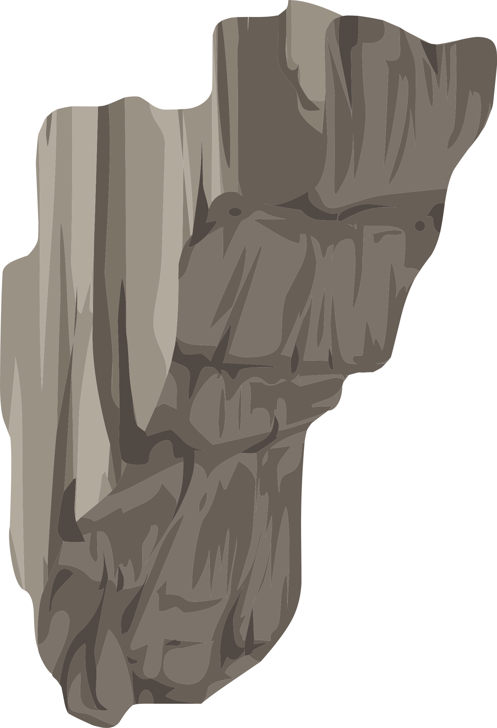 Cliff pencil and in. Rock clipart landscape