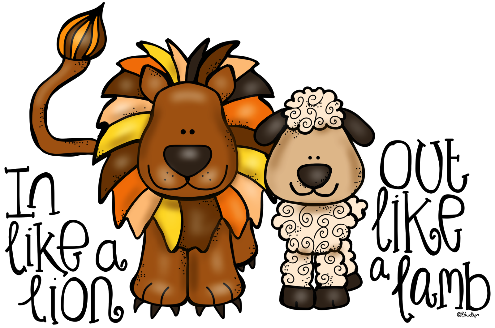 Windy clipart girl raincoat. Lion and lamb at