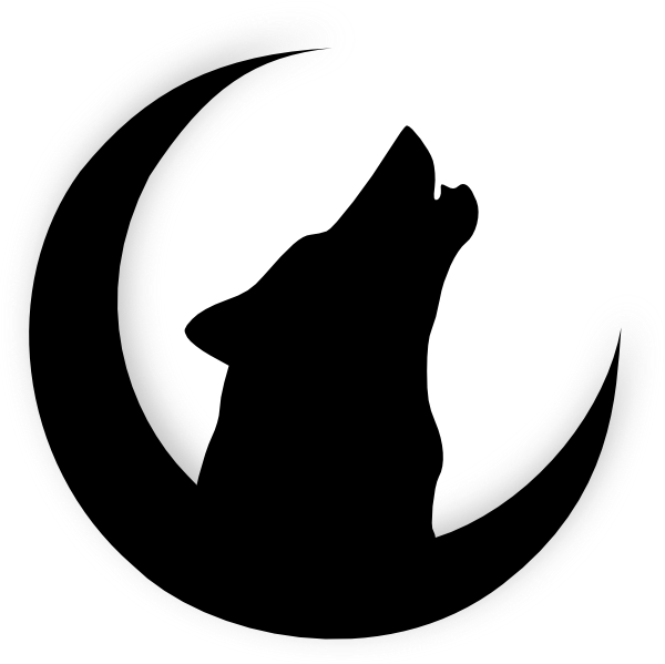 Clipart hammer silhouette. Howling wolf head drawing