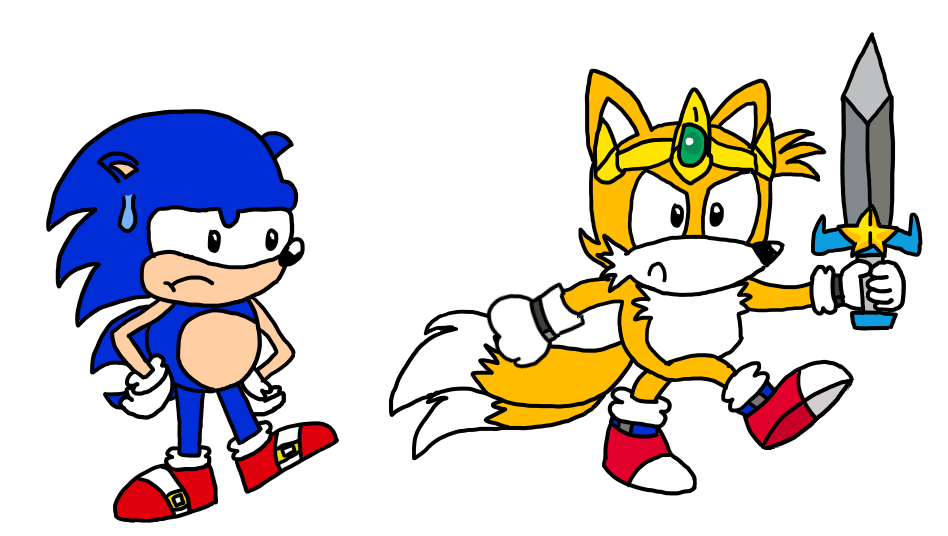 Lock clipart old timey. Sonic and tails in