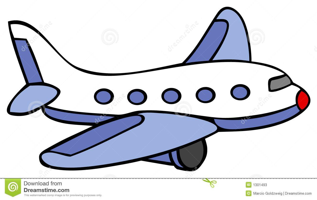 Clipart airplane. Cartoon line art for