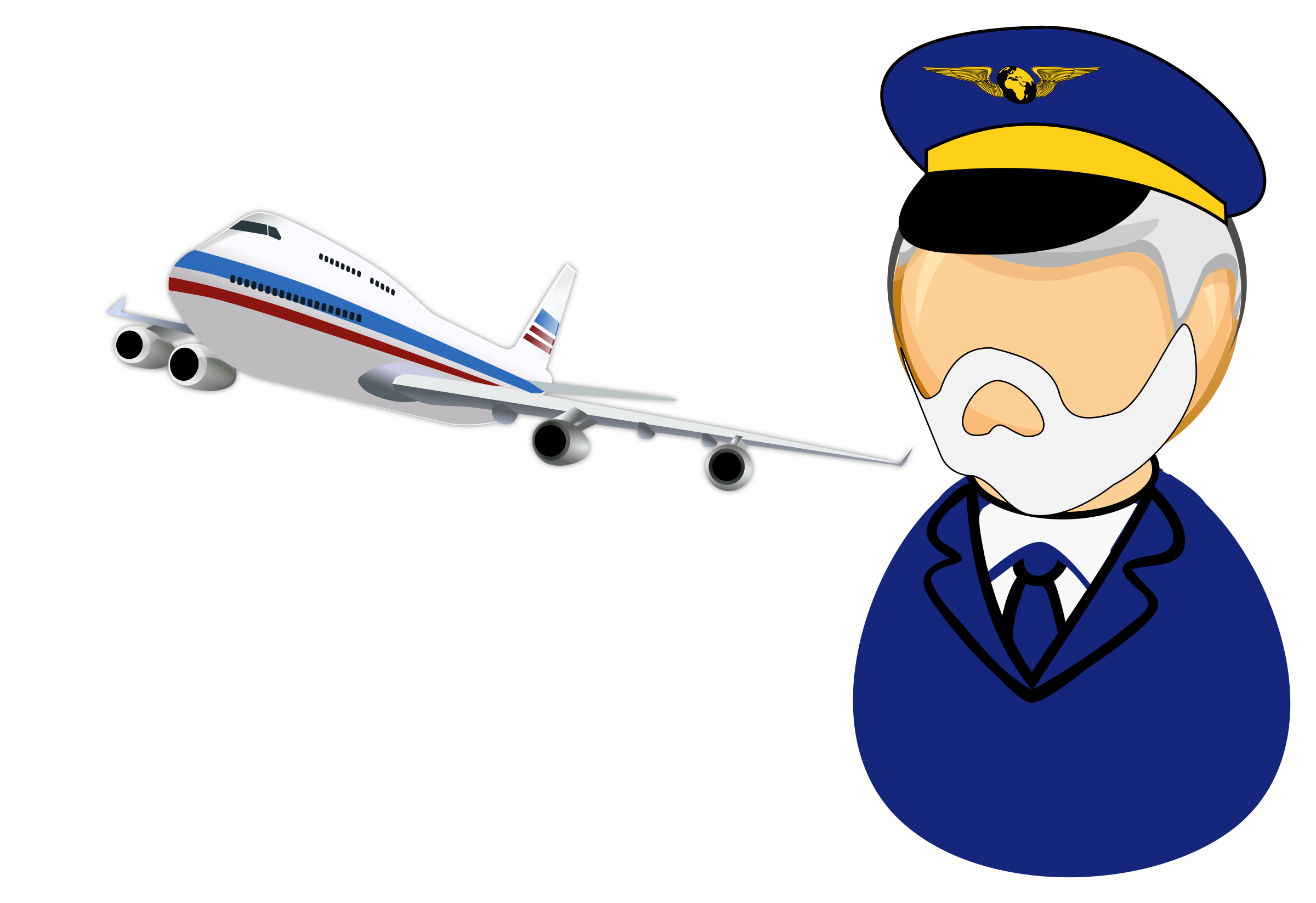 Airline captain big image. Flying clipart airplane pilot
