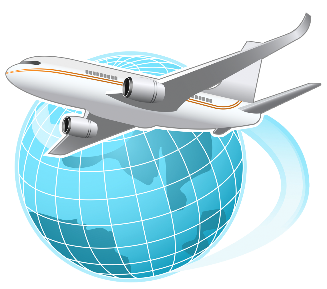 Airplane flight globe world. Flying clipart aeronautical engineering