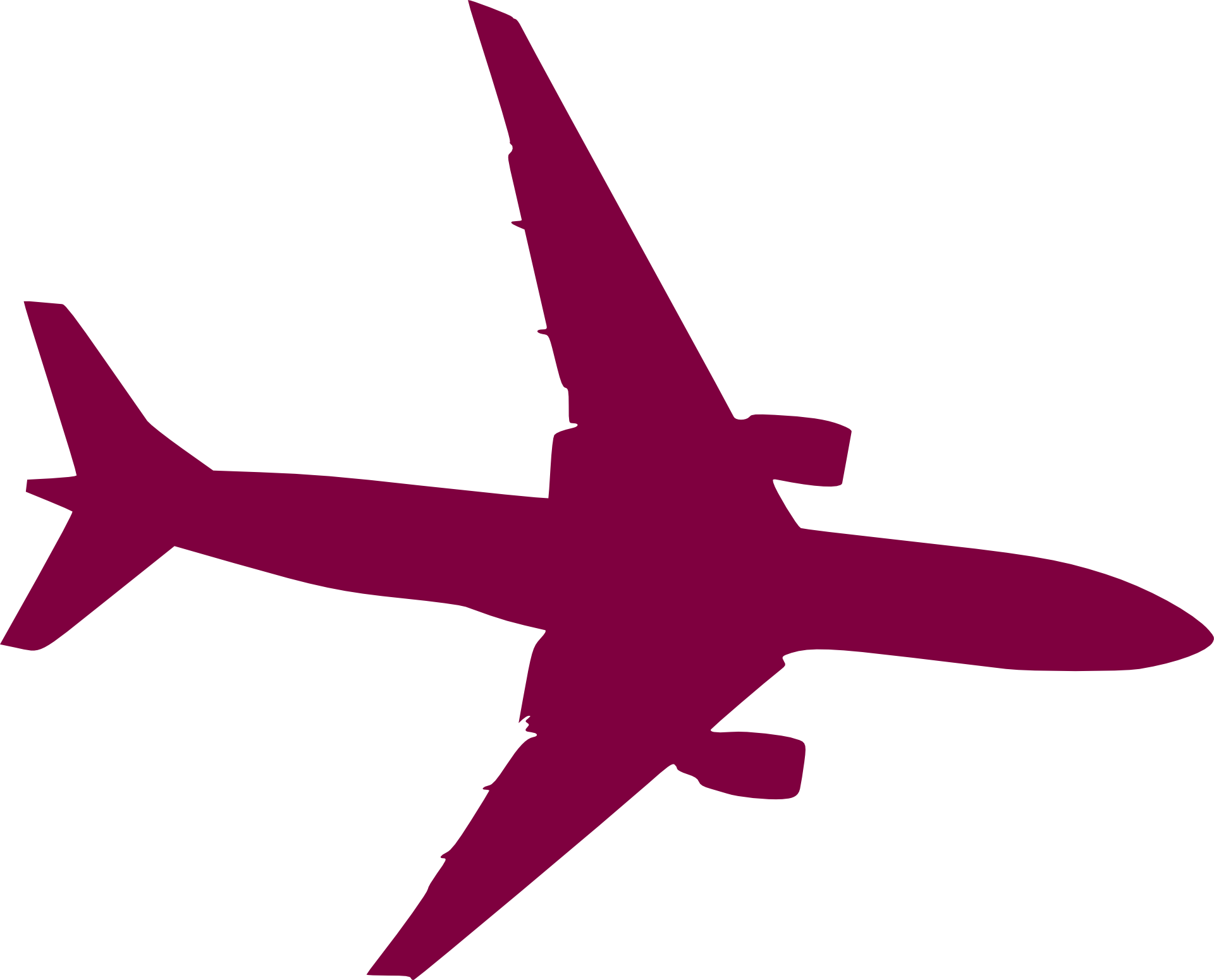 Aircraft silhouette at getdrawings. Jet clipart powerpoint