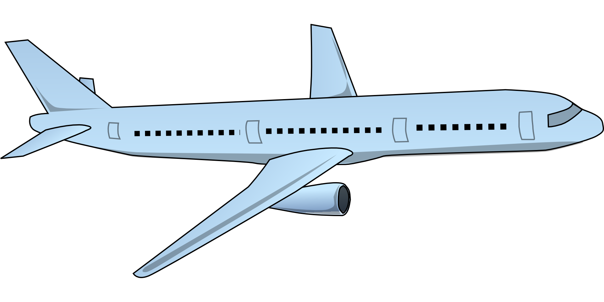 Airplane aircraft computer icons. Jet clipart air transportation