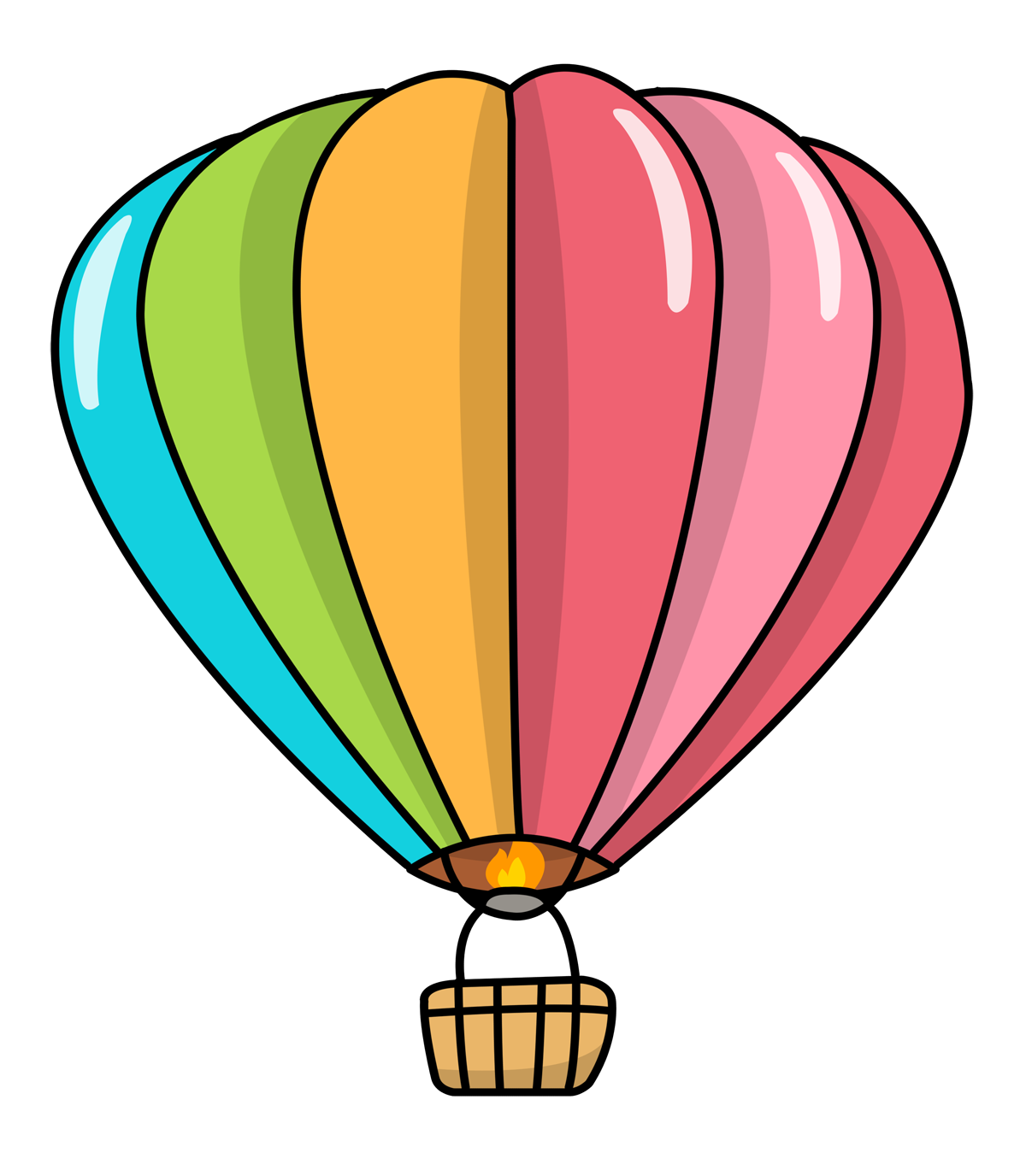 Steampunk clipart hot air balloon. Free to use public